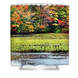 Many Colors Of Autumn Shower Curtain