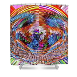 Shower Curtain featuring the digital art Many Colors Of Love  by Annie Zeno