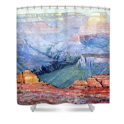 Shower Curtain featuring the painting Many Hues by Steve Henderson