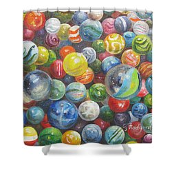 Many Marbles Shower Curtain