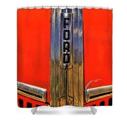 Manzanar Fire Truck Hood And Grill Detail Shower Curtain