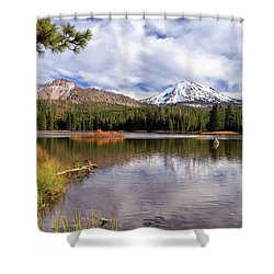 Shower Curtain featuring the photograph Manzanita Lake - Mount Lassen by James Eddy