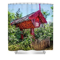 Maori Home In New Zealand Shower Curtain