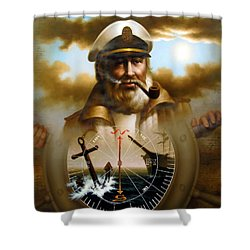 Map Captain 8 Shower Curtain
