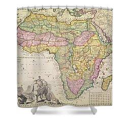 Map Of Africa Shower Curtain by Pieter Schenk