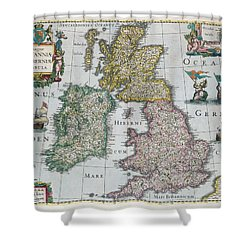 Map Of Britain Shower Curtain by English school