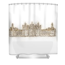 Map Of The Castle Chambord Shower Curtain