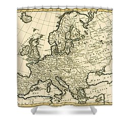 Map Of Europe Shower Curtain by Guillaume Raynal