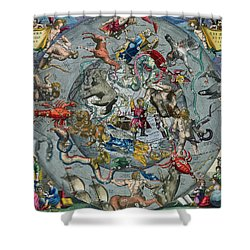 Map Of The Constellations Of The Northern Hemisphere Shower Curtain by Andreas Cellarius