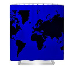 Shower Curtain featuring the photograph Map Of The World Blue by Rob Hans