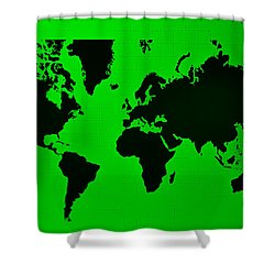 Shower Curtain featuring the photograph Map Of The World Green by Rob Hans
