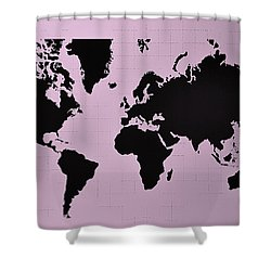 Shower Curtain featuring the photograph Map Of The World Pink by Rob Hans