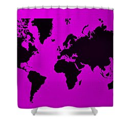 Shower Curtain featuring the photograph Map Of The World Purple by Rob Hans