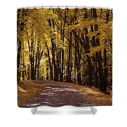 Maple Glory Shower Curtain