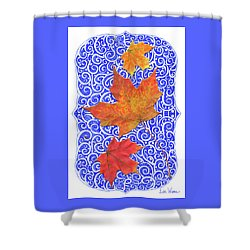 Shower Curtain featuring the digital art Maple Leaves by Lise Winne