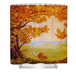Maple One Fifty Shower Curtain by Cathy Long