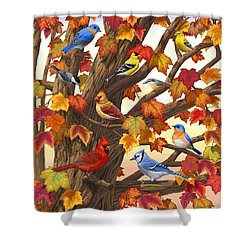 Maple Tree Marvel - Bird Painting Shower Curtain