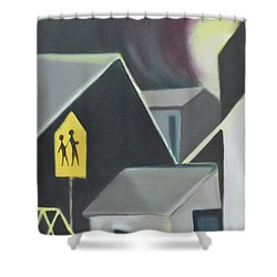 Maplewood Crossing Shower Curtain by Ron Erickson