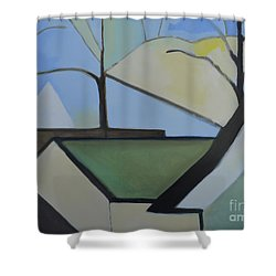 Maplewood Shower Curtain by Ron Erickson