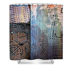 Maps #9 Shower Curtain