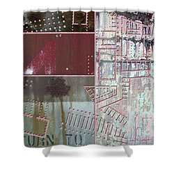 Maps #17 Shower Curtain