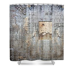 Maps #18 Shower Curtain