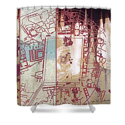 Maps #27 Shower Curtain by Joan Ladendorf
