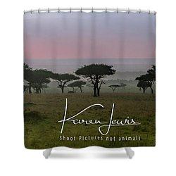 Shower Curtain featuring the photograph Mara Dawn by Karen Lewis