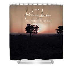Shower Curtain featuring the photograph Mara Morning by Karen Lewis