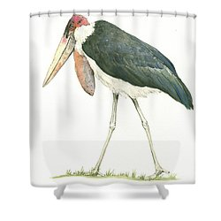 Marabou Shower Curtain by Juan Bosco