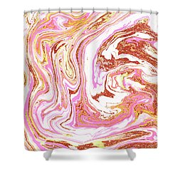 Marble And Rose Gold Dust Shower Curtain