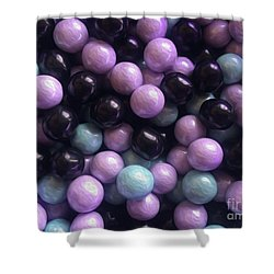 Marble Candy Art Shower Curtain