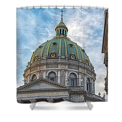 Shower Curtain featuring the photograph Marble Church In Copenhagen by Antony McAulay