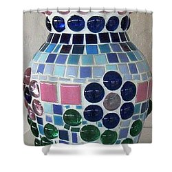 Shower Curtain featuring the glass art Marble Vase by Jamie Frier