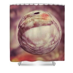 Lovely Little Lilly Tiel Marble Shower Curtain