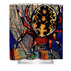 Marbled Orbweaver Shower Curtain