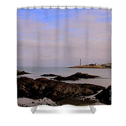 Marblehead Harbor And Light Shower Curtain