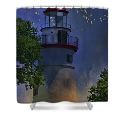 Marblehead In Starlight Shower Curtain