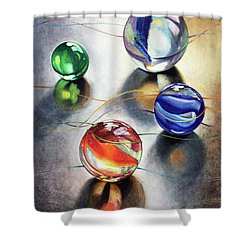 Marbles 3 Shower Curtain