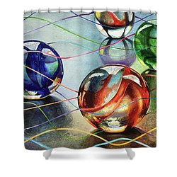 Marbles 4 Shower Curtain