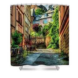Shower Curtain featuring the photograph Marburg Alley by David Morefield