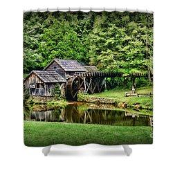 Marby Mill Landscape Shower Curtain by Paul Ward