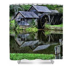 Marby Mill Reflection Shower Curtain by Paul Ward