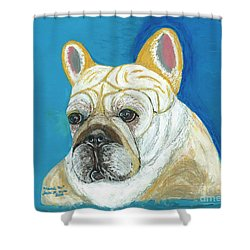 Shower Curtain featuring the painting Marcel II French Bulldog by Ania M Milo