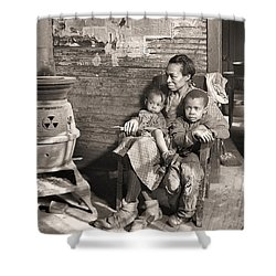 March 1937 Scott's Run, West Virginia Johnson Family. Shower Curtain