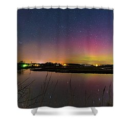 March 6 Aurora Over Scarborough Marsh  Shower Curtain