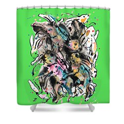 March Hares Shower Curtain