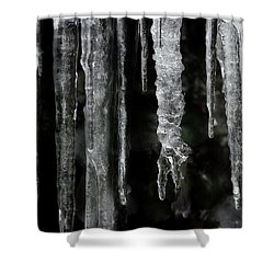 Shower Curtain featuring the photograph March Icicles by Mike Eingle
