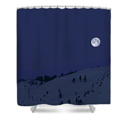 Shower Curtain featuring the photograph March Moon With Jupiter by Donna Kennedy