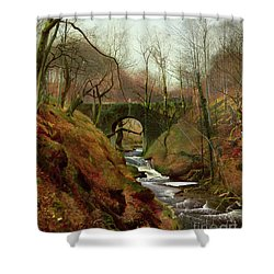 March Morning Shower Curtain by John Atkinson Grimshaw